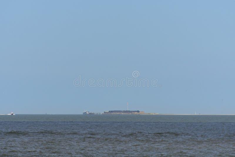 Sumter forte, Carolina del Sud alla bocca di Charleston Harbour fotografia stock libera da diritti