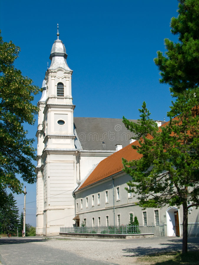 Sumuleu Cathedral in Romania. One of the most significant monument complexes of Transylvania, it is registered historical monument of Harghita county. Several stock photography