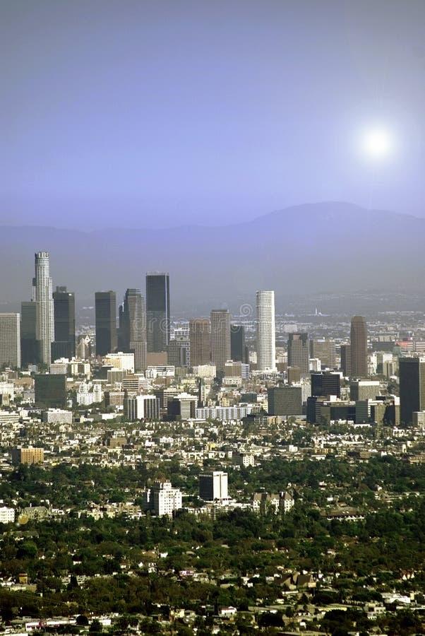 Sun über Los Angeles stockfotografie