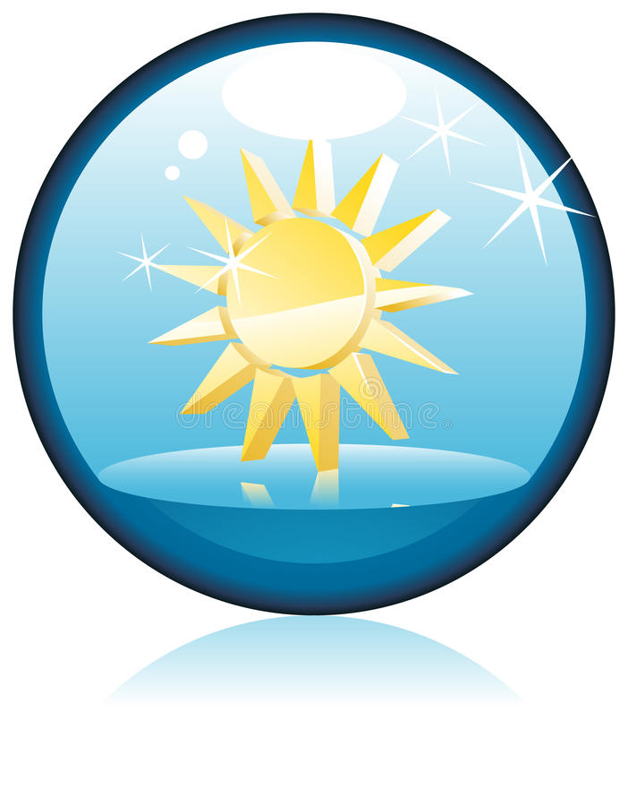 The Sun royalty-vrije illustratie