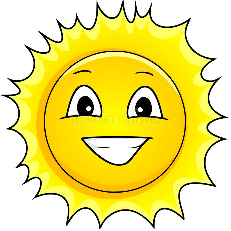Download Sun stock vector. Image of klima, sonne, face, happy - 13613202
