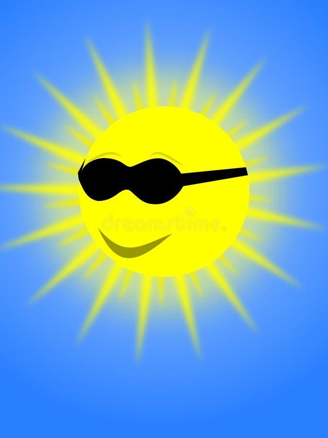 Sun illustration stock