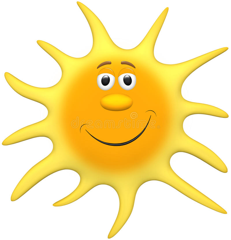 Download Sun stock illustration. Illustration of humor, orange - 15608343