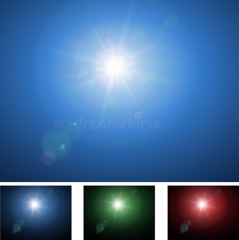 Sun stock de ilustración