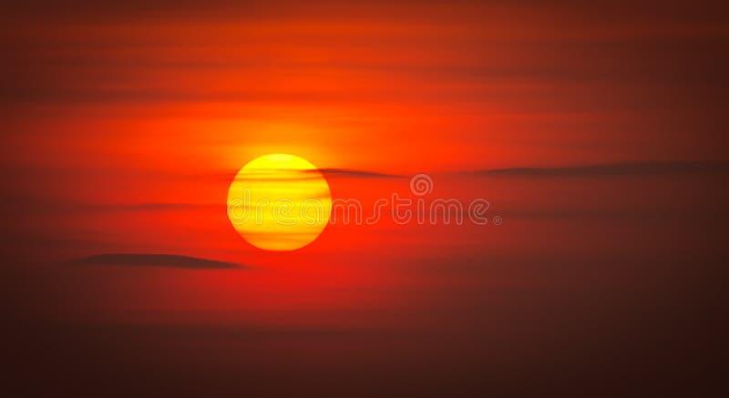 Sun. Beautiful sun during the sunset royalty free stock photo