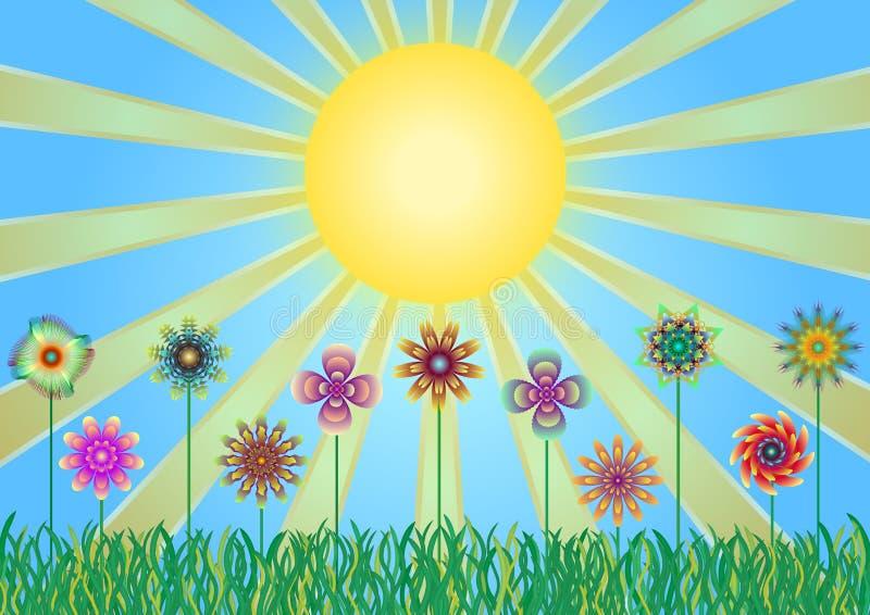 Sun иллюстрация вектора
