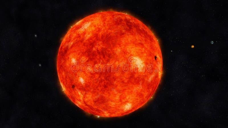 Sun ilustração royalty free