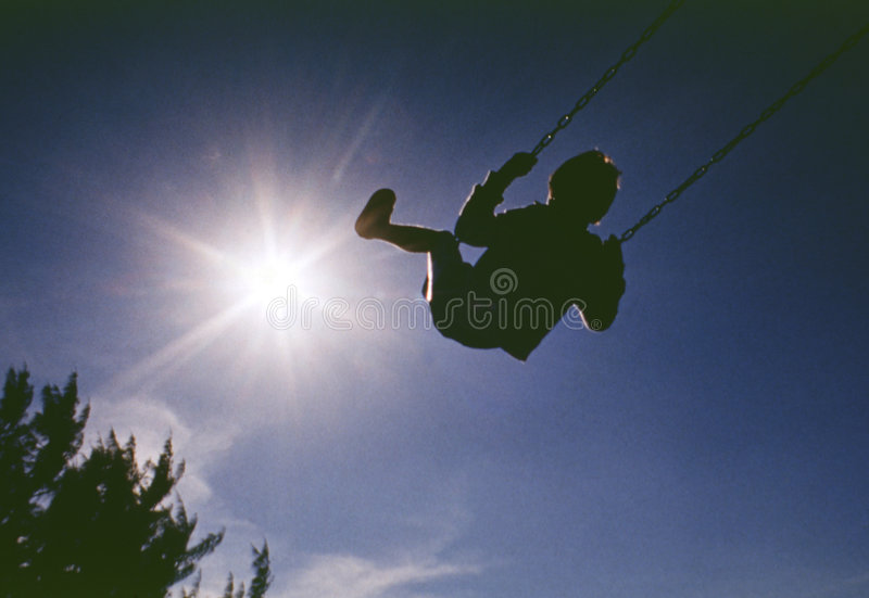 Download Sun stock photo. Image of park, flying, swing, high, child - 6023738