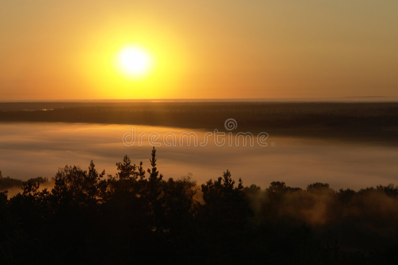 Sun. On a background of the sky royalty free stock photo