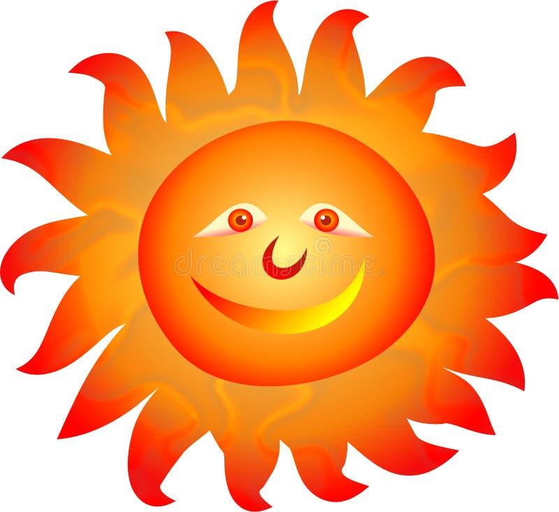 Sun ilustração stock