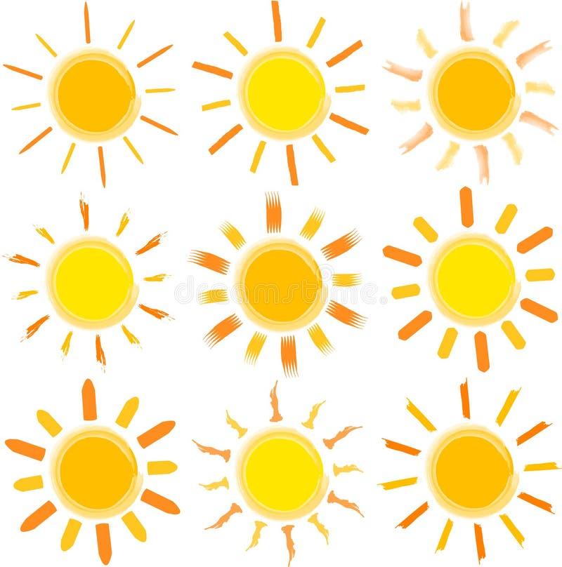 Sun ilustración del vector