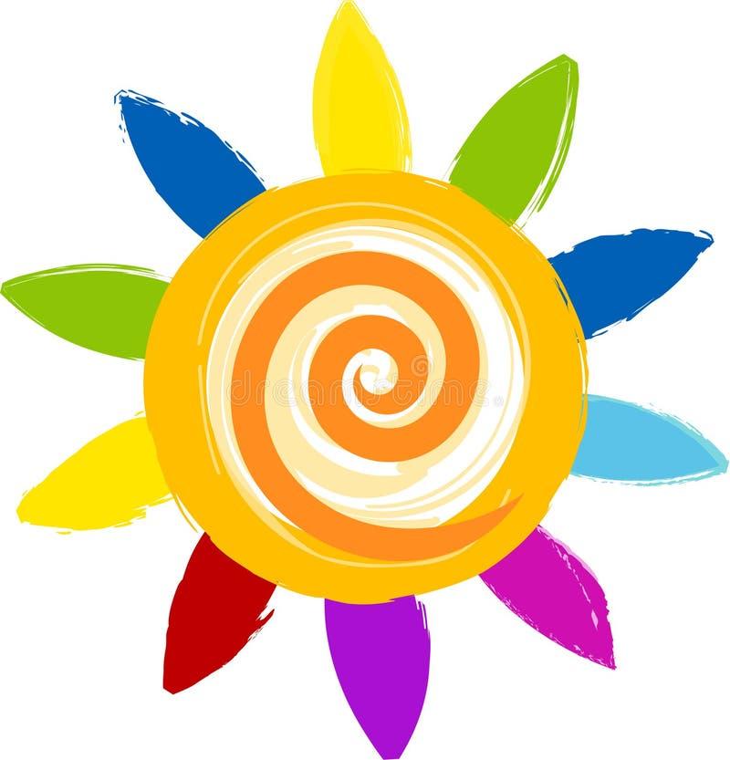 Download Sun stock illustration. Image of yellow, sign, blue, orange - 7628358