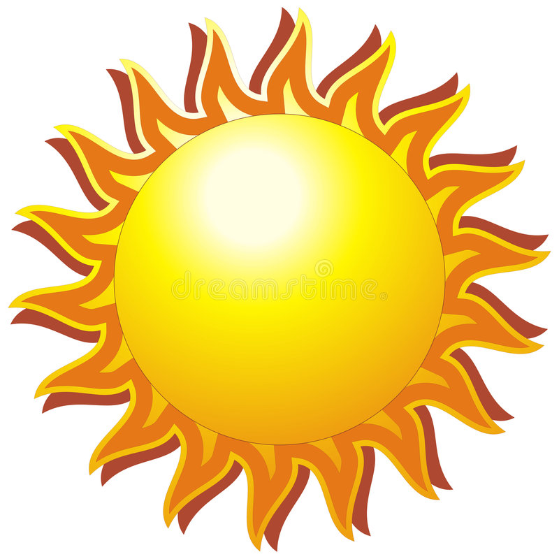 Download The sun stock vector. Illustration of clipart, heating - 8823345