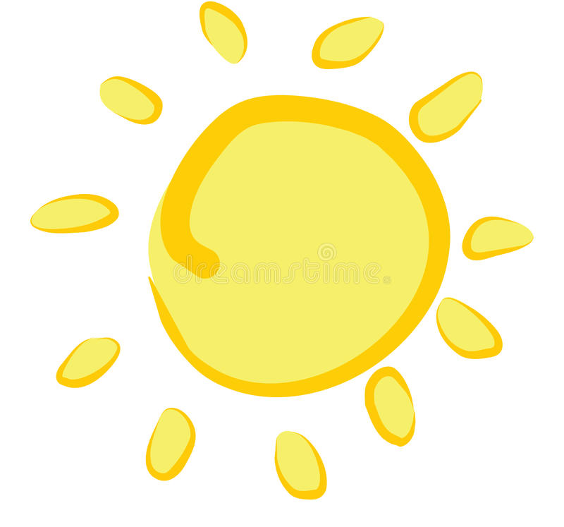 Sun stock illustration