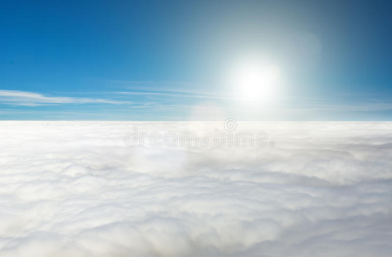 Sun above the clouds royalty free stock photo