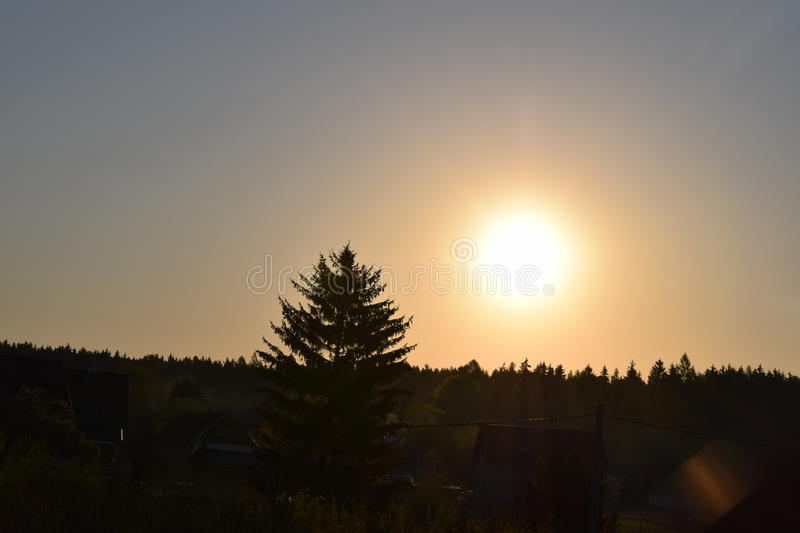 Sun on the air royalty free stock photo