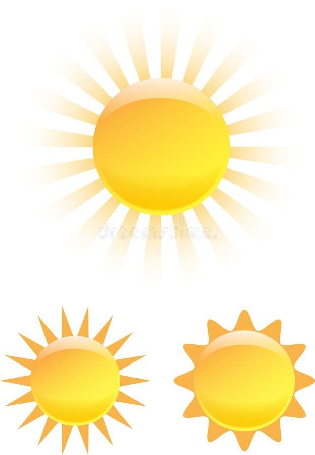 The Sun ajustou-se ilustração stock