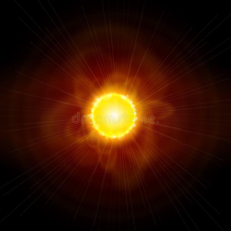 Sun & spazio royalty illustrazione gratis