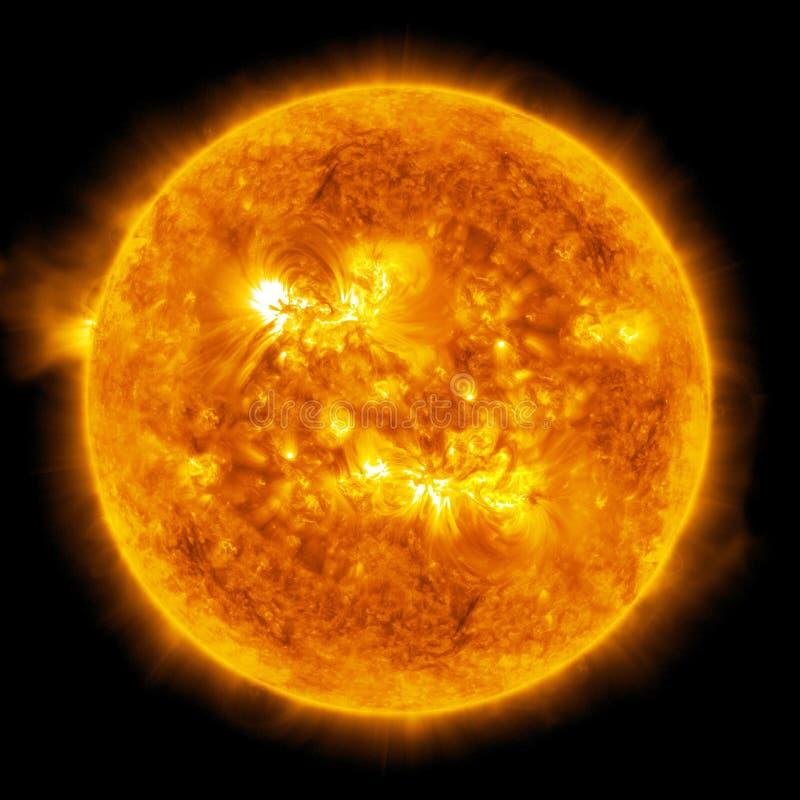 Sun. Aquecimento global ilustração royalty free