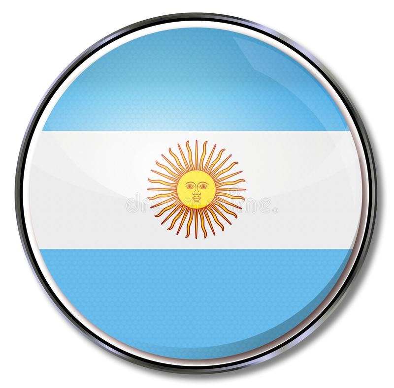 Sun and Argentina. South America and sun of Argentina royalty free illustration