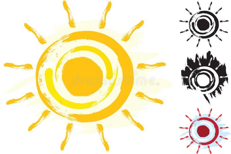Sun Art Symbol Serie photographie stock