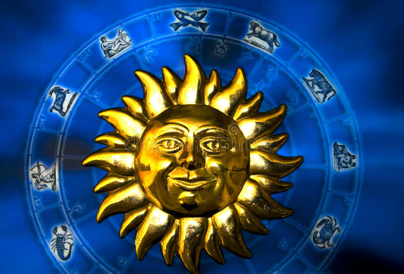 Sun astrology royalty free stock image