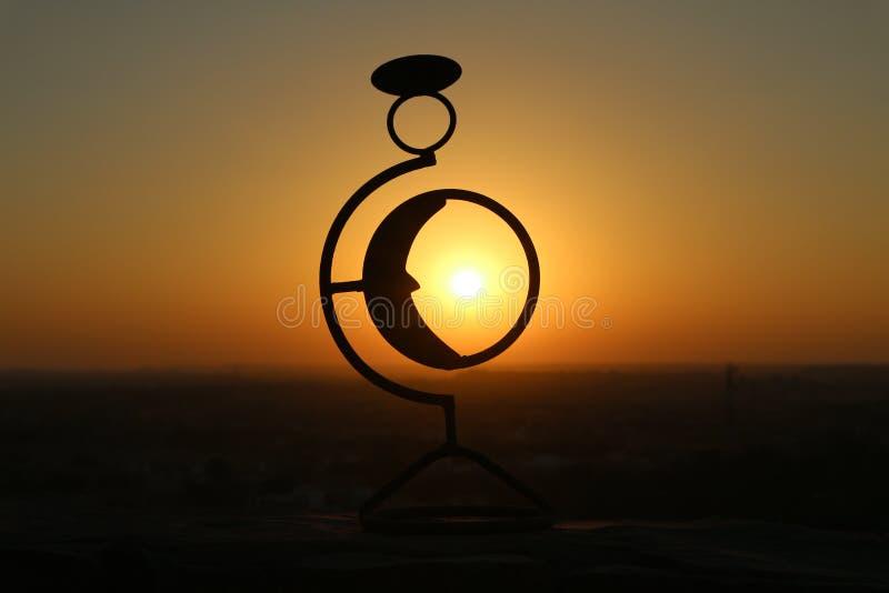 Sun através da lua fotografia de stock royalty free