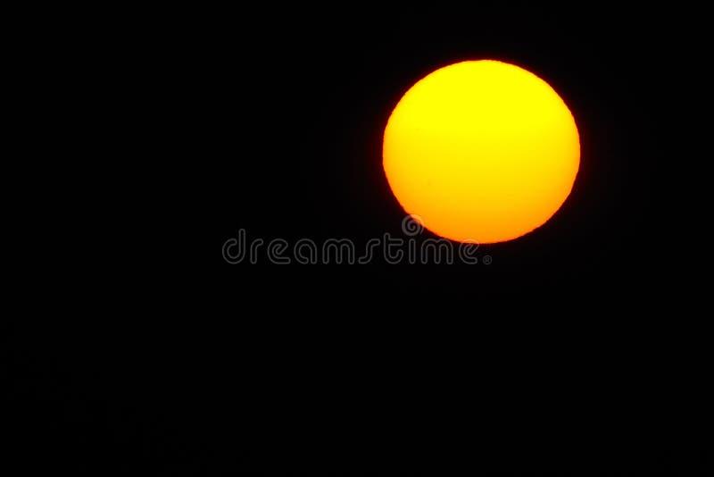 Sun au grand détail de vue de lever de soleil images stock