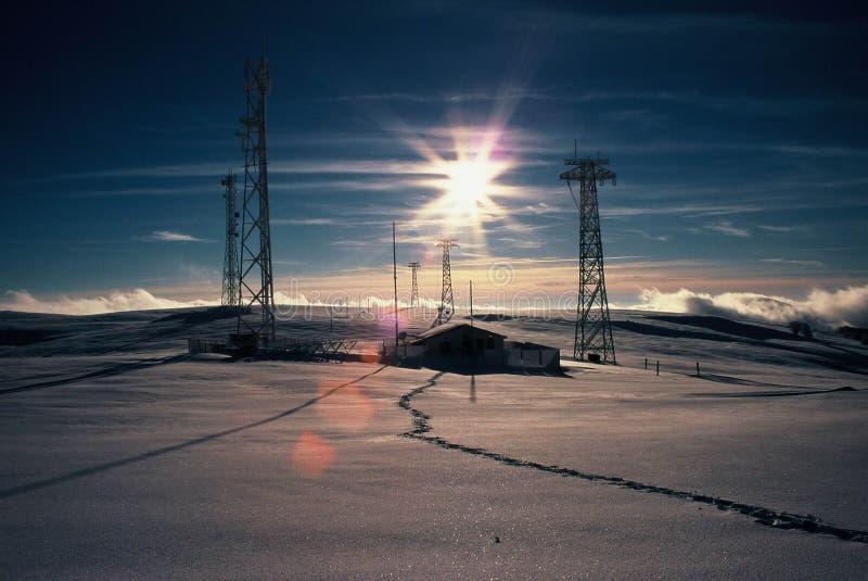 Sun-Aufflackern stockfoto