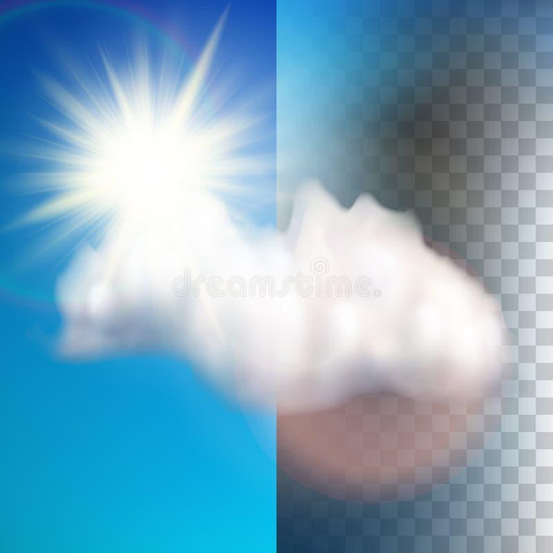 Sun avec le nuage flotte dans le ciel ENV 10 illustration libre de droits