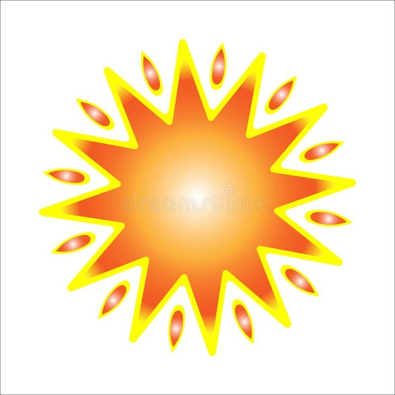 Sun avec les rayons jaunes images libres de droits