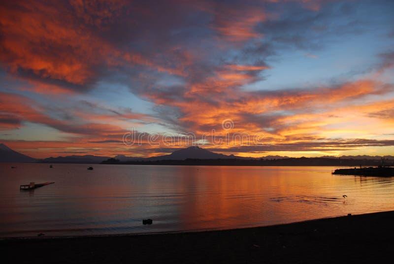 The sun awakens stock photography