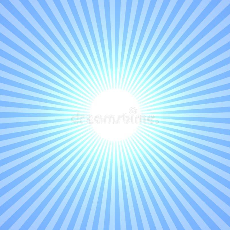 Sun azul ilustração royalty free