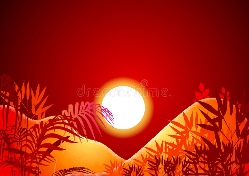 Sun background royalty free illustration