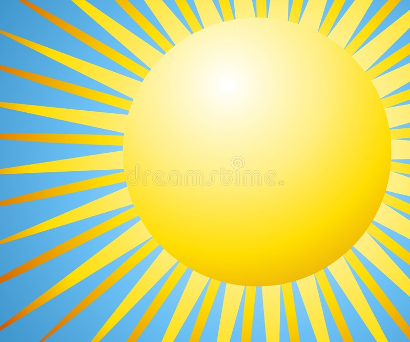 Sun Background With Rays stock illustration