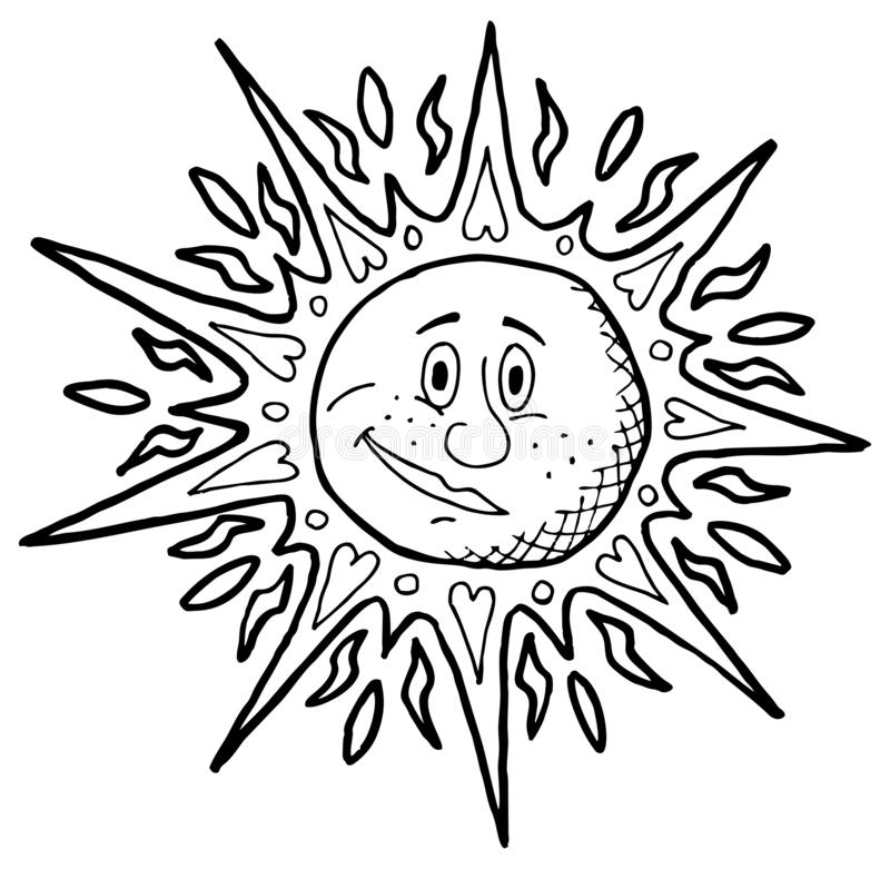 Sun Backgrounds Line Art stock photo