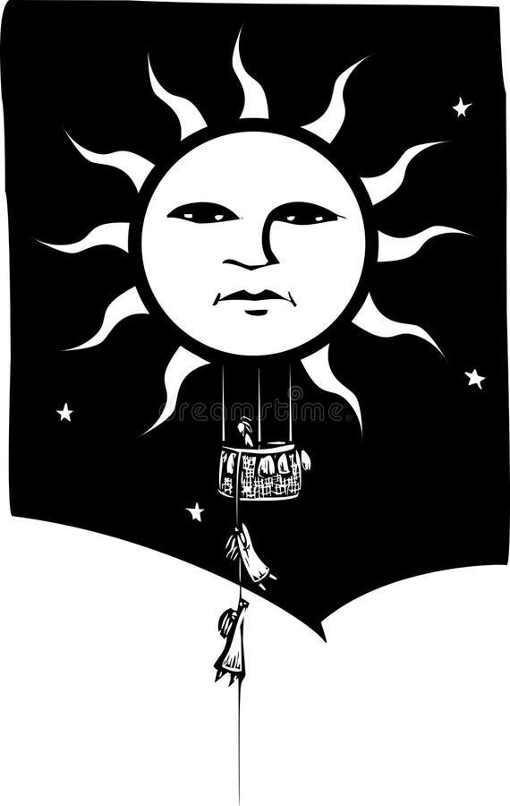 Download Sun Balloon stock vector. Illustration of nightmare, climb - 20151859