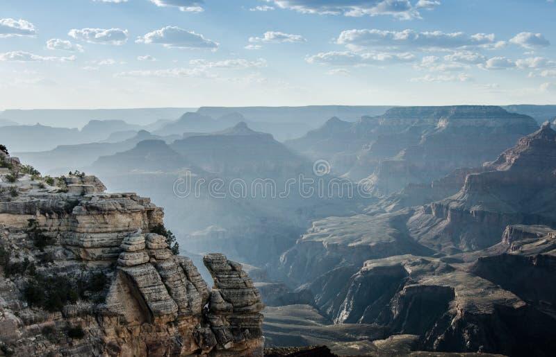 Sun barre a Mather Point, Grand Canyon fotografía de archivo