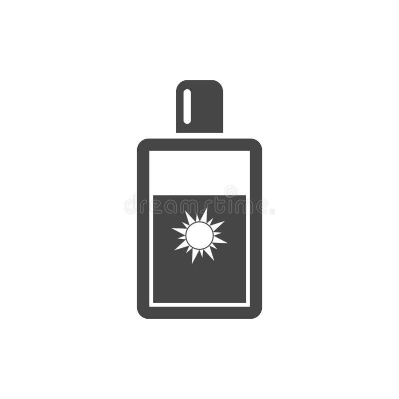 Sun bate el icono, Sun protege el icono plano del vector libre illustration