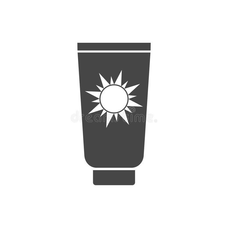 Sun bate el icono, Sun protege el icono plano del vector ilustración del vector