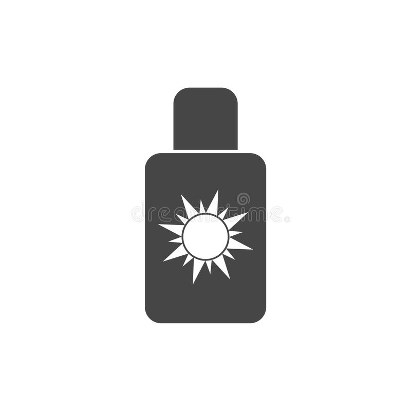 Sun bate el icono, Sun protege el icono plano del vector stock de ilustración
