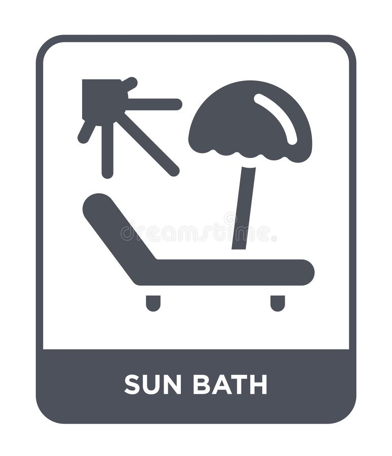sun bath icon in trendy design style. sun bath icon isolated on white background. sun bath vector icon simple and modern flat royalty free illustration
