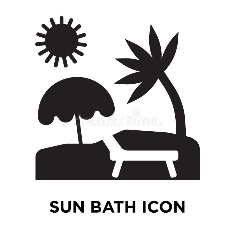 Sun bath icon vector isolated on white background, logo concept stock illustration