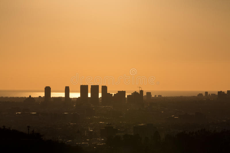 Sun Bathed Los Angeles royalty free stock photography