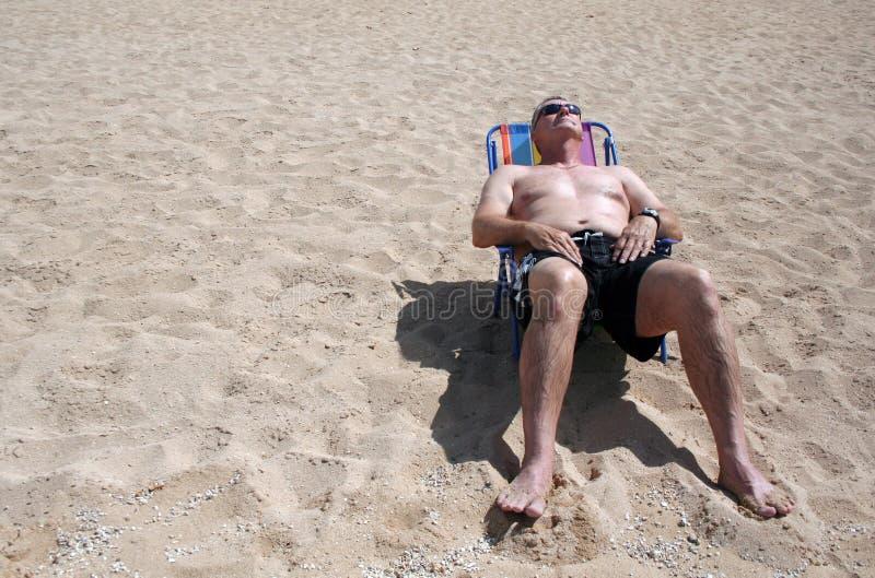 Sun Bather stock photo