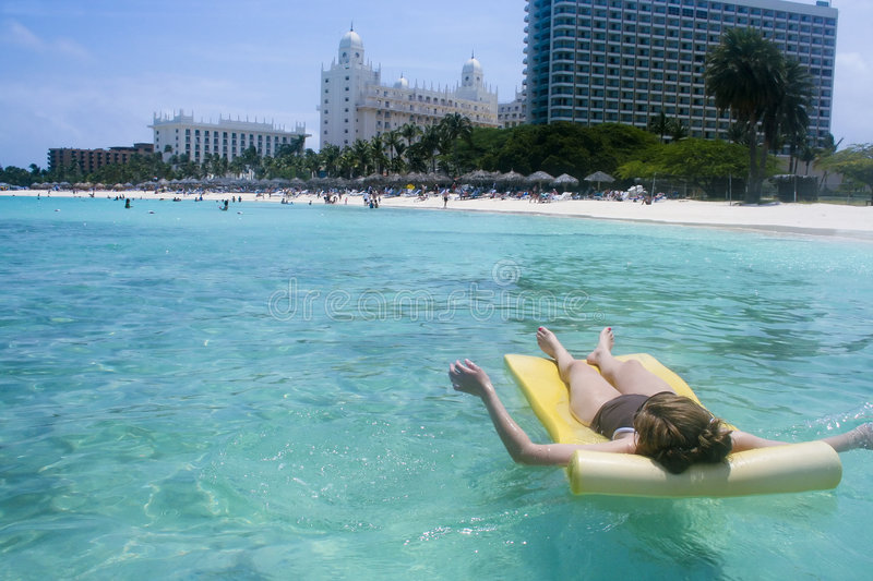 Download Sun Bathing Beach stock photo. Image of caribbean, raft - 4961948