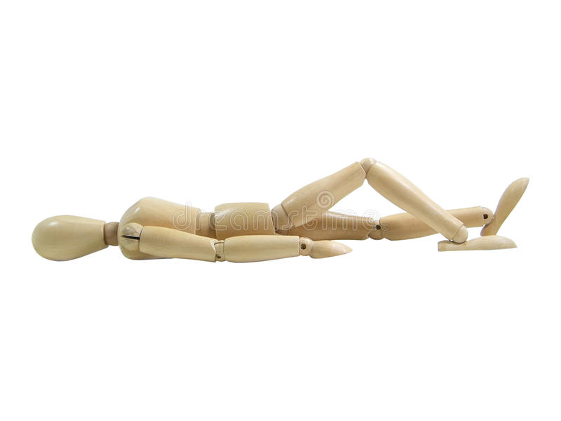 Download Sun Bathing Wood Puppet stock photo. Image of white, posture - 22894424