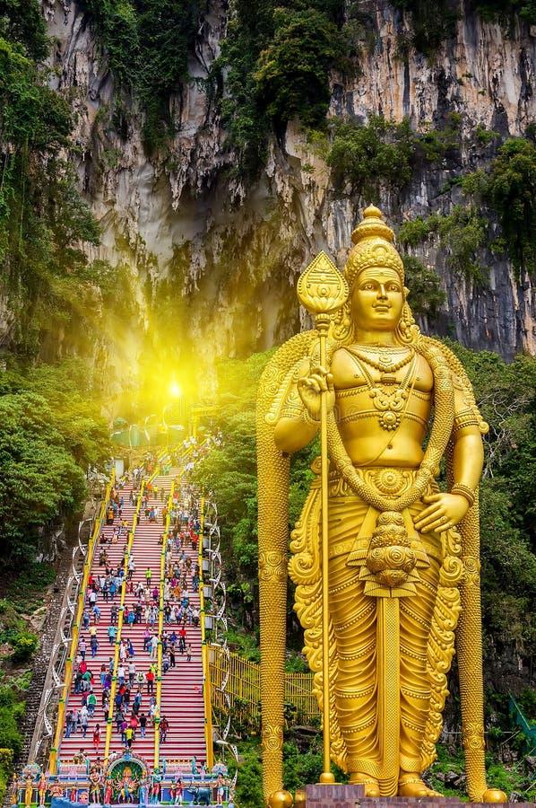 Sun Batu excava a Lord Murugan en Kuala Lumpur, Malasia fotografía de archivo libre de regalías
