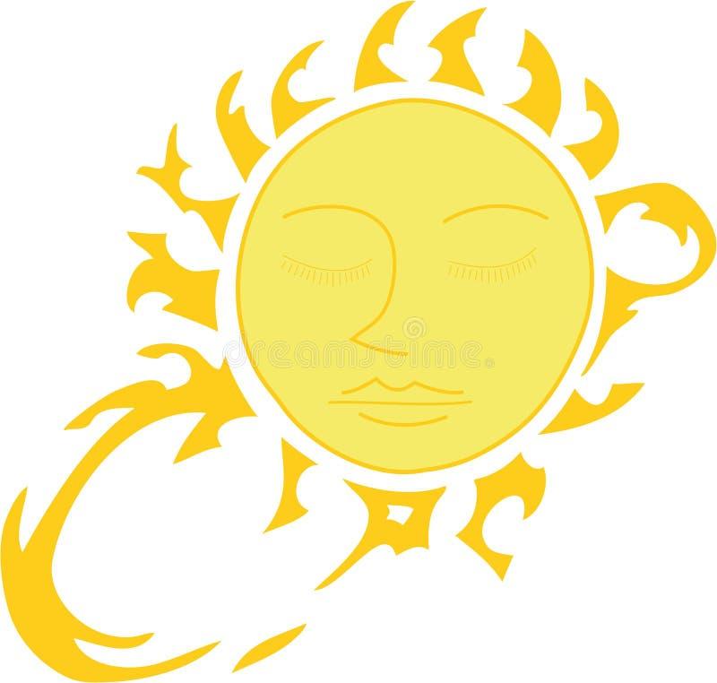 Sun beams stock illustration