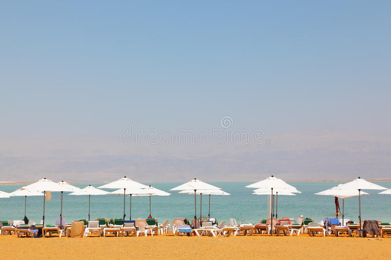 Download Sun Beds, Chairs, Umbrellas And Awnings Stock Photo - Image of coastline, israel: 14933840